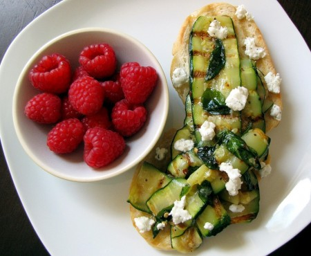 Grilled Zucchini Lunch
