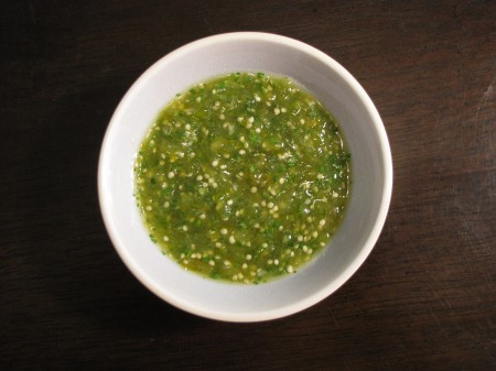 Just a smidge of salsa verde