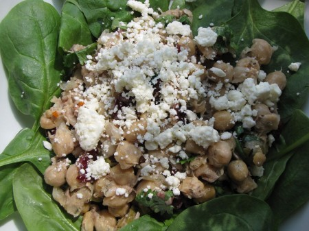 Chickpeas with tuna and dijon dressing