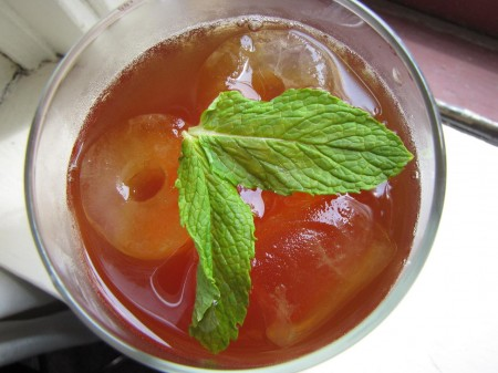 Iced Tea with Minted Simple Syrup