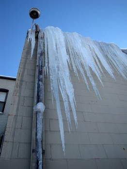 This icicle was almost as tall as me