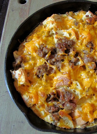 Sausage and Cheddar Strata
