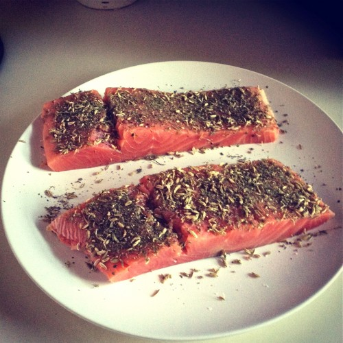 Fennel and coriander seed spiced salmon